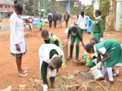 Learners undertaking an activity under the new Competency Based Curriculum in Kenya.