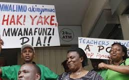 Teachers at a past industrial action march. The insensitive KNEC; This is why teachers are furious with the Council over Exams administration