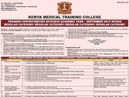 Full details on Kenya Medical Training College, KMTC; Fees, Campuses, Courses, application requirements and procedure plus a list of all required documents