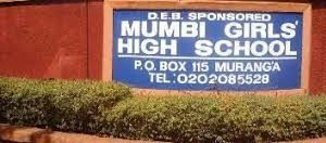 Mumbi Extra County Secondary School in Murang'a County; School KNEC Code, Type, Cluster, and Category