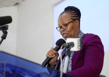 Knec Chief Executive Officer Dr Mercy Karogo at a past event.