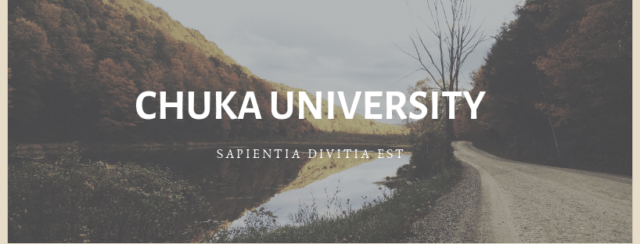Chuka University Student admission letters and KUCCPS PDF list download.