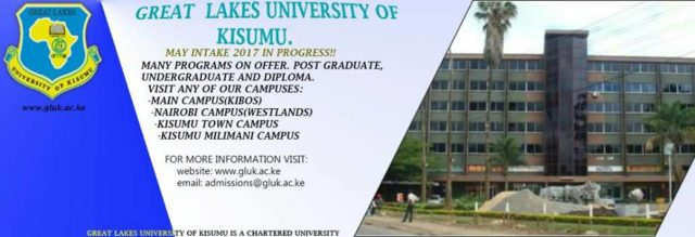 Great Lakes University (GLUK) student admission letters and KUCCPS admission list in pdf free download