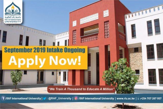 RAF International University student admission letter and KUCCPS admission list pdf download.