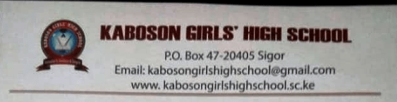 KABOSON GIRLS SECONDARY SCHOOL