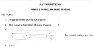 Free Physics notes, schemes, lesson plans, KCSE Past Papers, Termly Examinations, revision materials and marking schemes.