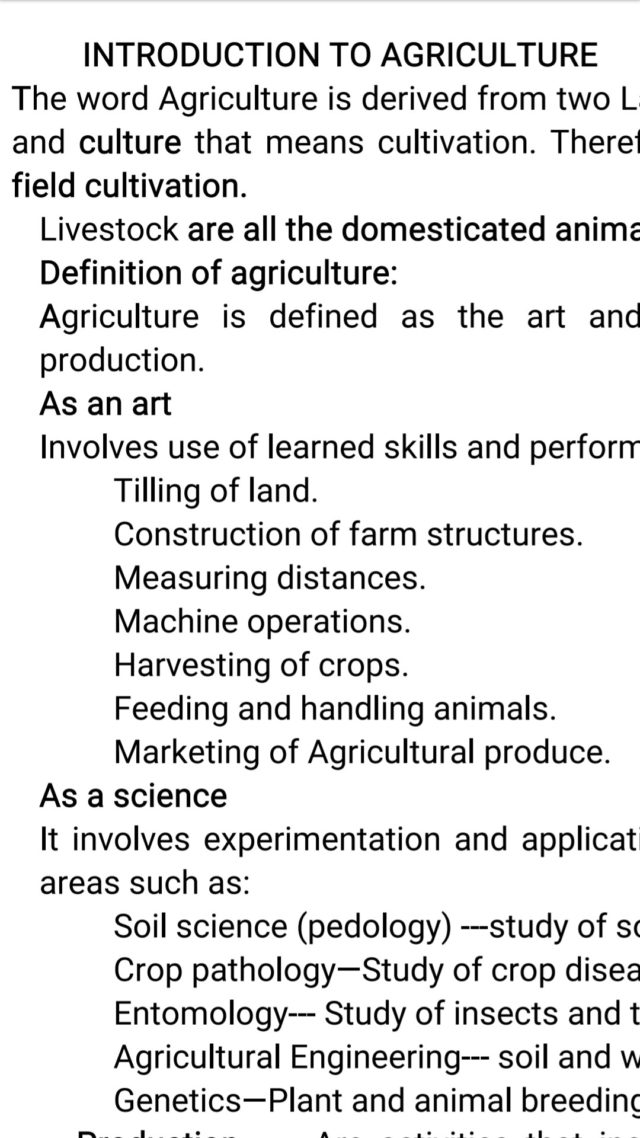 Free Agriculture notes, schemes, lesson plans, KCSE Past Papers, Termly Examinations, revision materials and marking schemes.