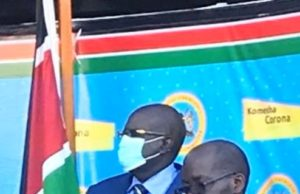 Education CS Prof. George Magoha (left; in suit).