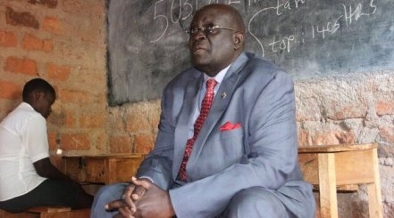 Education CS George Magoha inspects a past KCSE practical examination.
