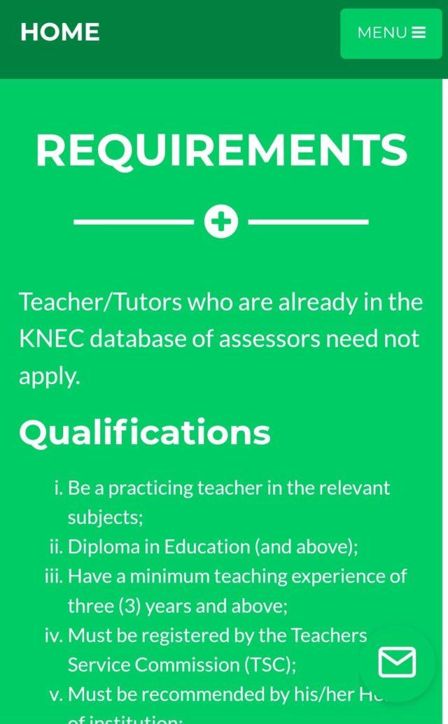 2020 KCSE examiners. KNEC contracted professionals.