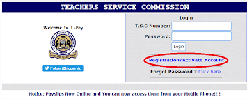 TSC payslips portal for teachers.