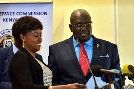 TSC boss Dr. Nancy Macharia (left) shares with the Education CS prof. George Magoha. Macharia says the country needs an additional 50,000 teachers to address the current staffing gaps in primary and secondary schools.