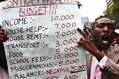 TSC teachers participating in a past demonstration over salary increments.