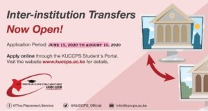 KUCCPS 2020/2021 inter institution transfer application portal open from June 15 to August 15, 2020. See simplified transfer application process.