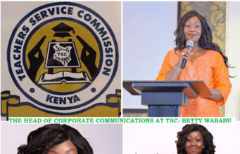 Beatrice Wababu who is the Head of Corporate Communications at TSC- Kenya.
