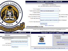 TSC payslips online. Register, download and print your payslip.
