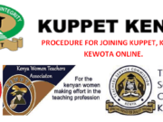 Online procedure for joining KUPPET, KNUT and KEWOTA. Join today.