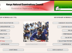 KNEC LCBE portal for marks capture.