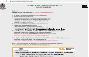 TSC registration status checking online portal; https://tsconline.tsc.go.ke/register/view-registration-status.