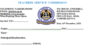 TSC internship extension letters.