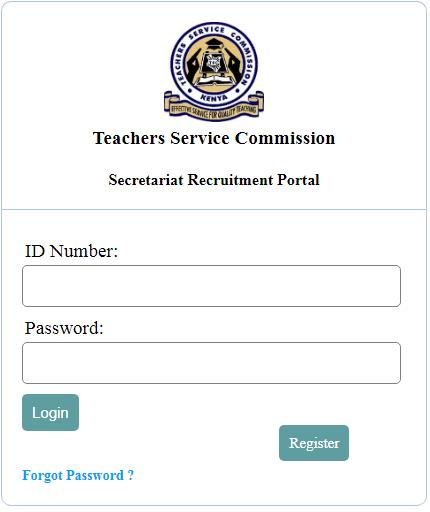 Advertised TSC vacancies at the Secretariat.