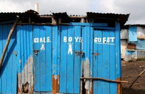 Dilapidated latrines.
