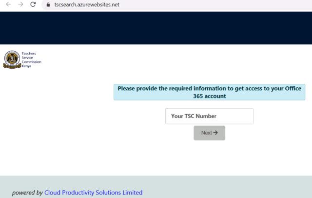 TSC teachers Email activation online at https://tscsearch.azurewebsites.net/