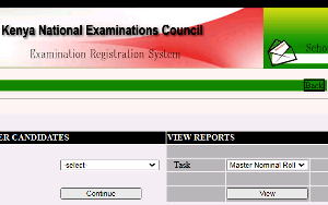 The KCSE Registration Portal.