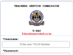 The new TSC Payslip portal login at tpay.tsc.go.ke
