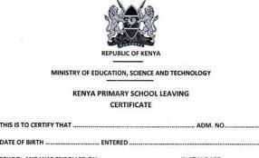 Kenya Primary School Leaving Certificate