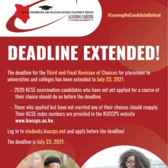 Kuccps extends deadline for third and final revision of Courses