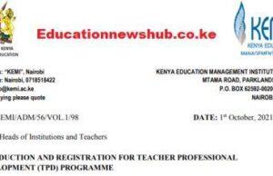 TSC Teachers TPD Modules at KEMI